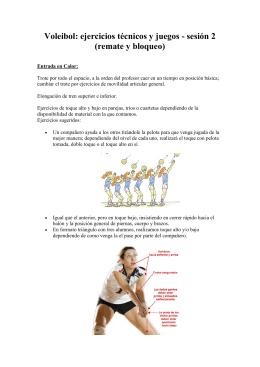Voleibol: ejercicios técnicos y juegos - sesión 2