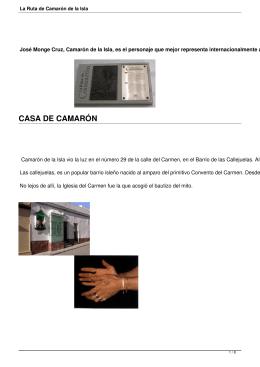 La Ruta de Camarón de la Isla - Web Oficial Turismo San Fernando