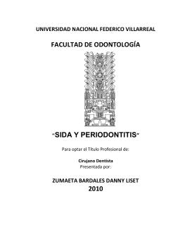 sida y periodontitis - Colegio Odontológico del Perú