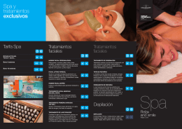 Spa y tratamientos exclusivos