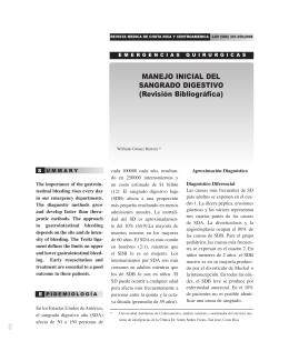 MANEJO INICIAL DEL SANGRADO DIGESTIVO (Revisión