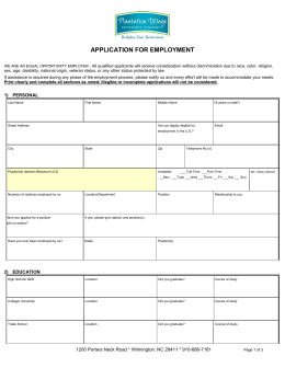 Sample Application Packet