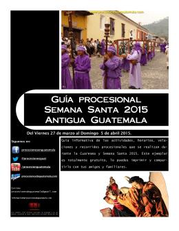 Guía procesional Semana Santa 2015 Antigua Guatemala