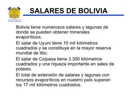 SALARES DE BOLIVIA