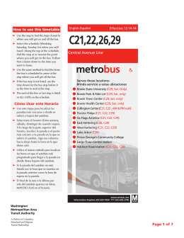 C21,22,26,29 - Washington Metropolitan Area Transit Authority