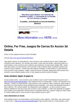 Online, For Free, Juegos De Carros En Accion 3d Details