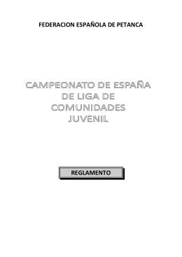 federacion española de petanca reglamento