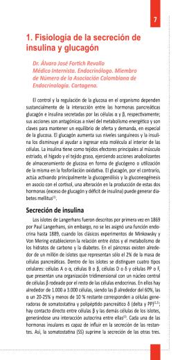 1. Fisiología de la secreción de insulina y glucagón