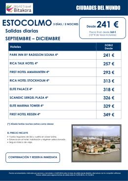 CIUDADES DEL MUNDO: Estocolmo, desde 241€ + tasas