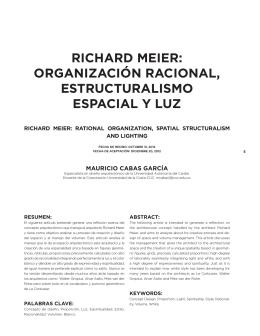 richard meier: organización racional, estructuralismo espacial