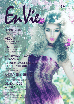 edición actual - En Vie | Fashion magazine