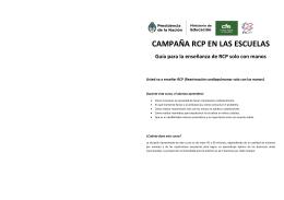 Guía para el instructor - Campaña de RCP en las escuelas