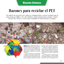 Razones para reciclar el PET