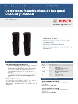 Detectores fotoeléctricos de haz quad DS453Q y DS455Q
