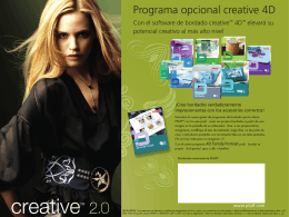 Programa opcional creative 4D