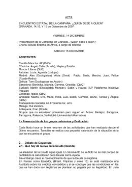 acta de la asambela estatal de diciembre 2008 en Granada