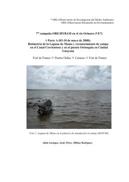 7 campaña ORE/HYBAM en el río Orinoco (VE7) ¤ Parte A (03