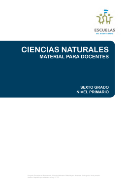 CIENCIAS NATURALES - Educación en Ciencias