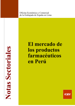 El mercado de los productos farmacéuticos en Perú
