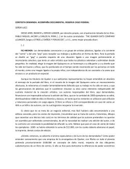 Respuesta de Sergio Langer y Diego Bianchi a la demanda de The