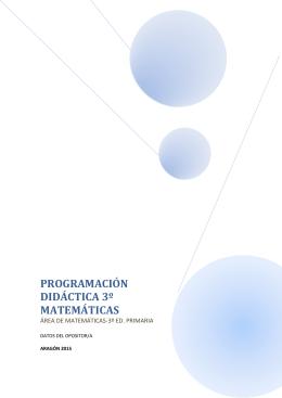 PROGRAMACIÓN DIDÁCTICA 3º MATEMÁTICAS - E