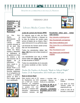 Library Media Center News