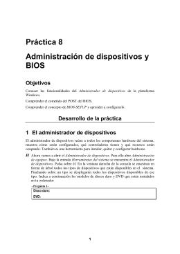 Práctica 8 Administración de dispositivos y BIOS