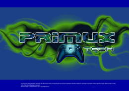Primux Tech 2013. The Primux Tech Logo, and other Primux marks