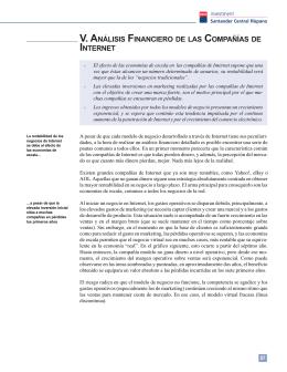 V. ANÁLISIS FINANCIERO DE LAS COMPAÑÍAS DE INTERNET