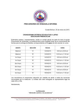 PRECURSORES DE VENEZUELA INFORMA