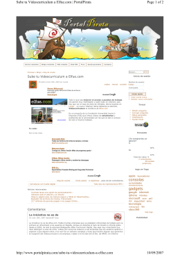 Sube tu Videocurrículum a elfue.com