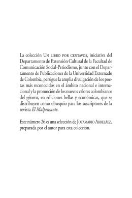 Poesía 26 Arbelaez - Universidad Externado de Colombia