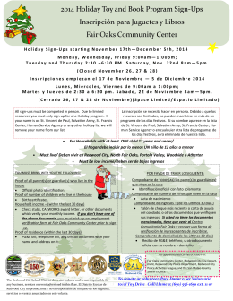 2014 Holiday Toy and Book Program Sign