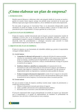 Plan de Empresa - Organización de Mujeres Empresarias y