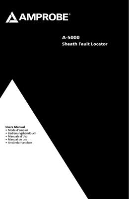 A-5000 Sheath Fault Locator Product Manual