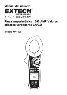 Manual del usuario Pinza amperimétrica 1500 AMP Valores