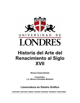 Historia del Arte del Renacimiento al Siglo XVII