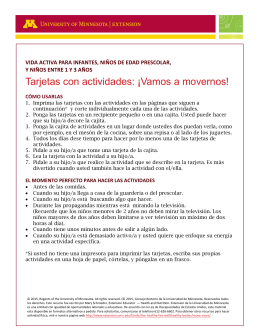 Tarjetas con actividades - University of Minnesota Extension