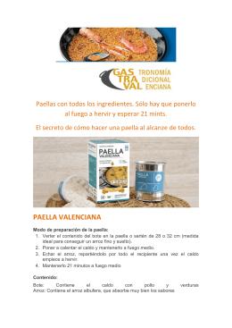 paella valenciana con paellera