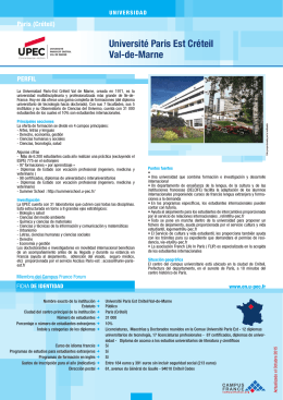 Université Paris Est Créteil Val-de-Marne