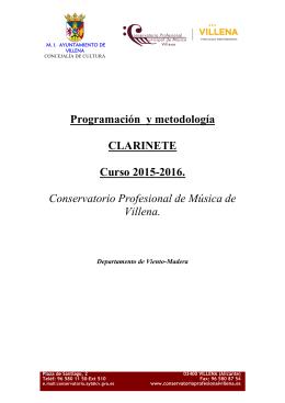 Programación y metodología clarinete