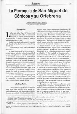 La Parroquia de San Miguel de Córdoba y su Orfebrería