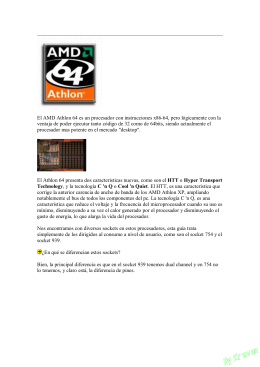 Guia AMD Athlon 64. - Infor-JDT