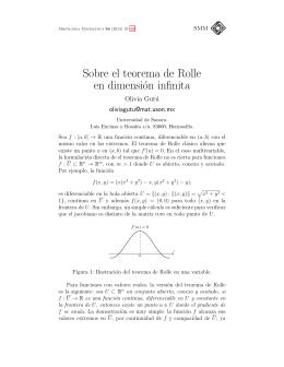Sobre el teorema de Rolle en dimensión infinita