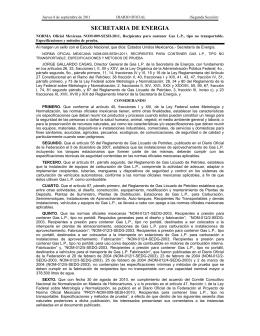 NOM-009-SESH-2011 - Secretaría de Energía