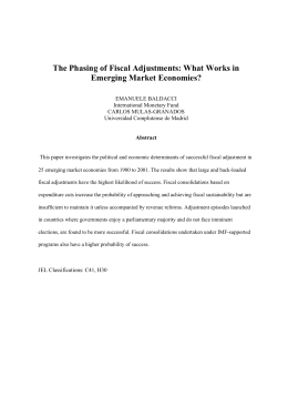 The Phasing of Fiscal Adjustments: What Works in