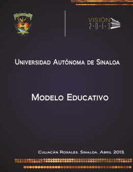 Modelo Educativo UAS 2013 - Secretaría Académica Universitaria