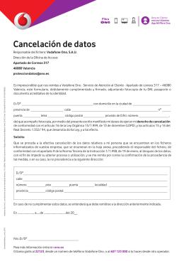 Cancelación de datos
