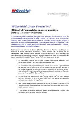BFGoodrich® Urban Terrain T/A® BFGoodrich® comercializa un
