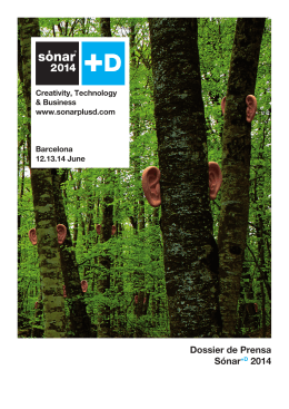 Dossier de Prensa Sónar+D 2014